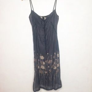 French Connection 6 Navy Floral Sleeveless Dress